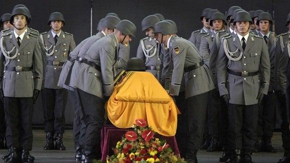 Trauerfeier für getöteten Soldaten