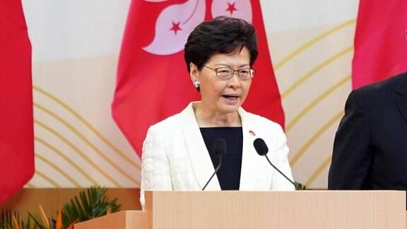 Carrie Lam Regierungschefin Hongkong