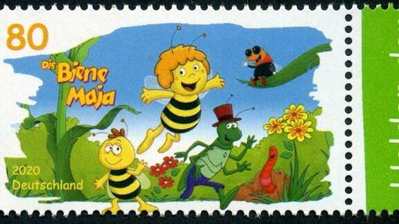Briefmarke mit Motiv von Biene Maja