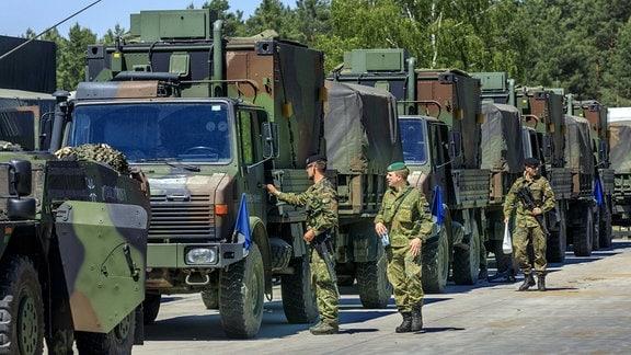 Nato-Manöver in der Oberlausitz DEU/Sachsen