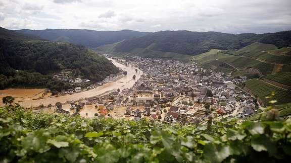 Überschwemmung im Ahrtal in der Eifel