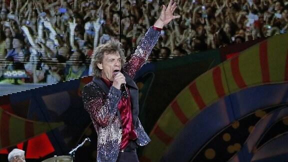 Die Rolling Stones bei einem Konzert in Havanna