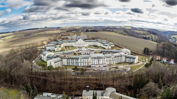 Luftaufnahme der Klinik Bavaria Kreischa