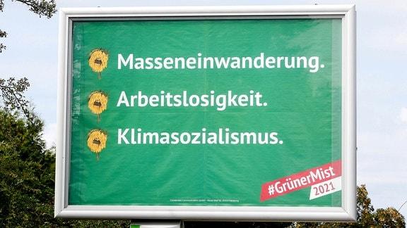 Plakat der Negativ-Kampagne gegen die Grünen