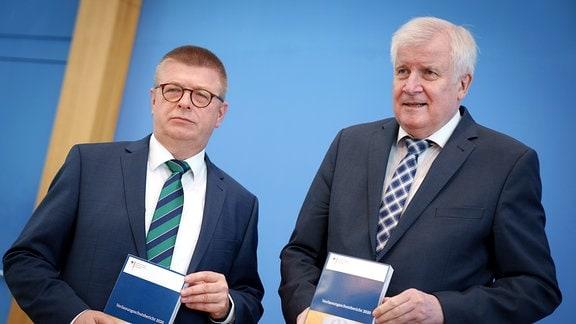 Thomas Haldenwang und Horst Seehofer