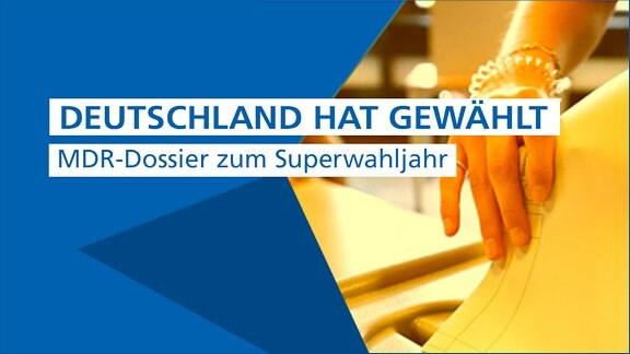 """Banner mit der Aufschrift """"Deutschland hat gewählt. MDR-Dossier zum Superwahljahr"""""""