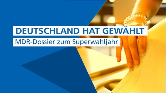 """Banner mit der Aufschrift """"Deutschland wählt. MDR-Dossier zum Superwahljahr"""""""