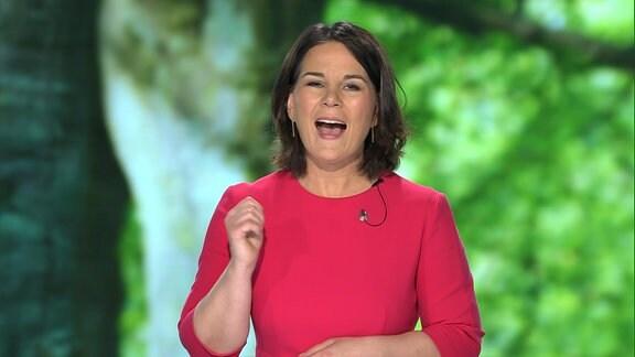 Annalena Baerbock, Kanzlerkandidatin der Grünen, bei einer Rede