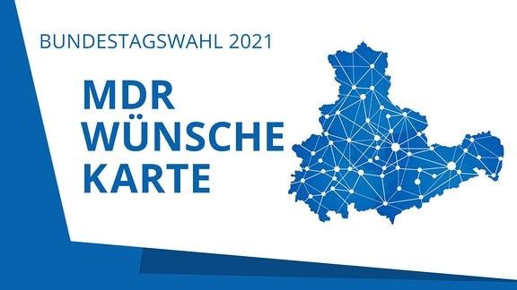 Zu sehen ist das Logo der Aktion MDR Wünschekarte.