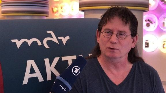 ein männlicher Interviewpartner