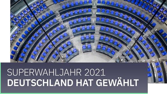 """Banner mit der Aufschrift """"Deutschland wählt. Superwahljahr 2021."""""""