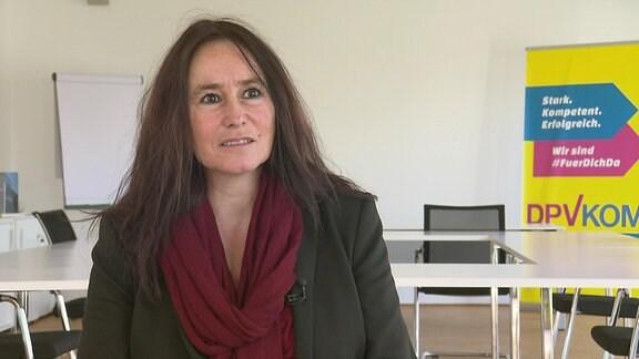 Christina Dahlhaus von der Postgewerkschaft DPVKOM im Interview