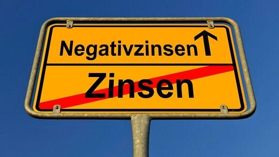 Symbolbild Negativzinsen