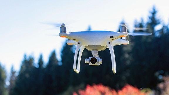 Fliegende Drohne DJI Phantom