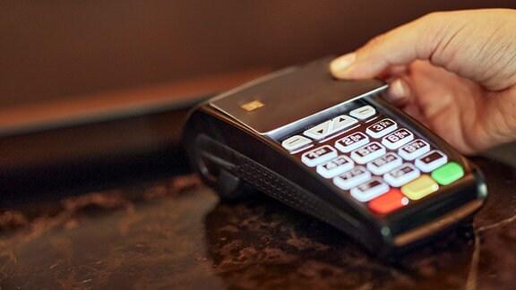Zahlung mit einer Kreditkarte