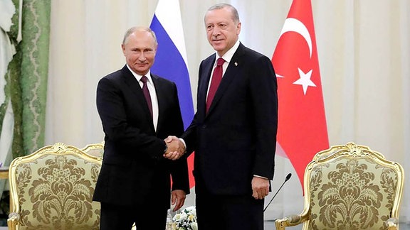 Vladimir Putin und Recep Tayyip Erdogan