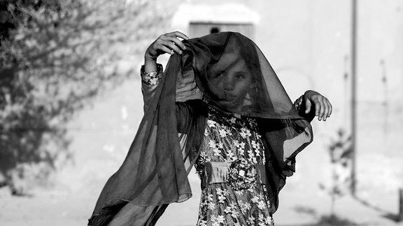 Kleines Mädchen in Afghanistan