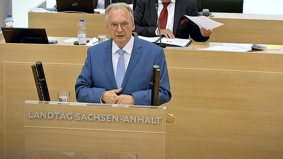 Ministerpräsident Haseloff bei seiner Regierungserklärung