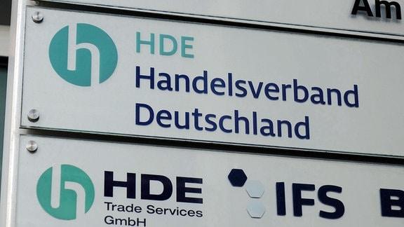 Schild Handelsverband Deutschland (HDE)