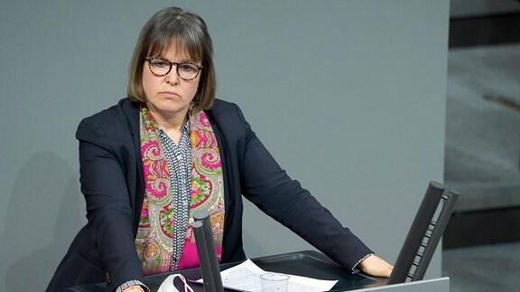 Heike Hänsel, Die Linke,bei einer Rede im Bundestag