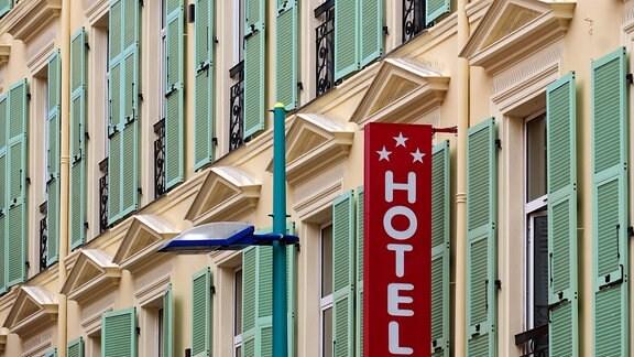 Außenansicht eines Hotels