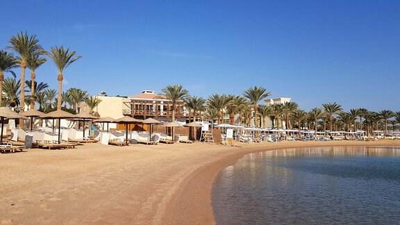 Strandbereich eines Hotels in Hurghada