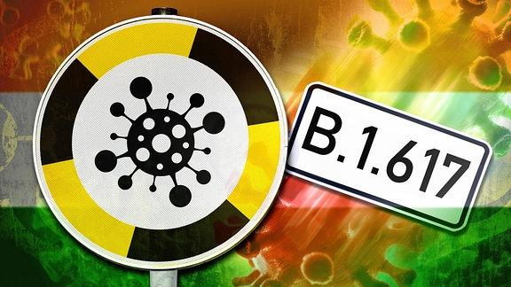 Indische Virus-Mutation B.1.617