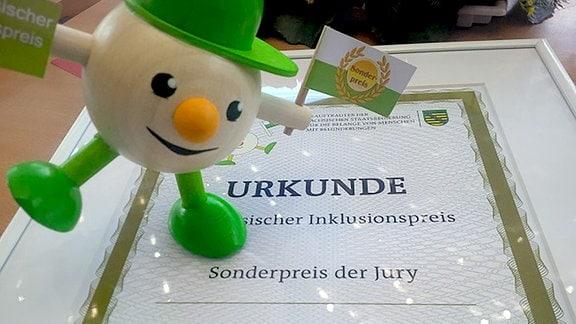 Sonderpreis im Rahmen des Sächsischen Inklusionspreises 2016
