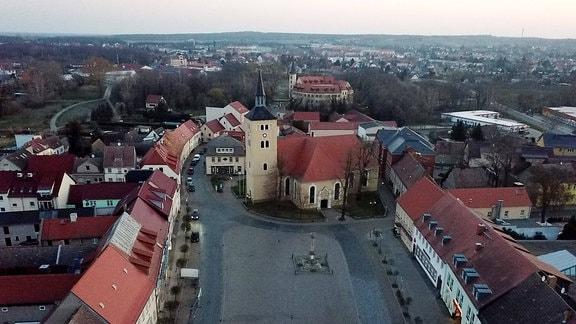 Luftaufnahme - Marktplatz von Jessen
