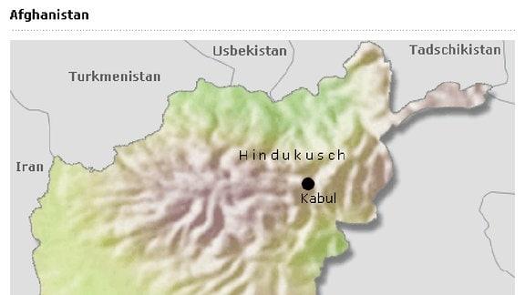 Karte Afghanistan