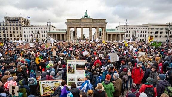 Großdemonstration in Berlin vor dem Brandenburger Tor