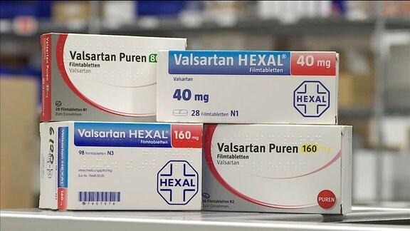 Medikamente mit dem Inhaltsstoff Valsartan