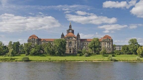 Die sächsische Staatskanzlei in Dresden.
