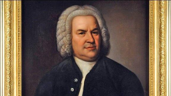 """""""Bach Portrait"""": Johann Sebastian Bach, Kopie eines unbekannten Künstlers nach Elias Gottlob Haußmann, vermutlich Mitte 19. Jh."""
