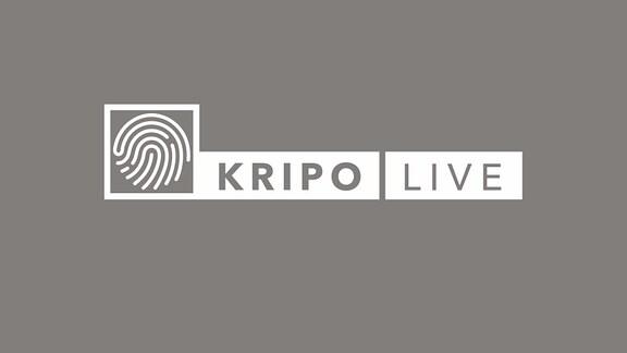 Logo Kripo live auf petrol-blauem Hintergrund