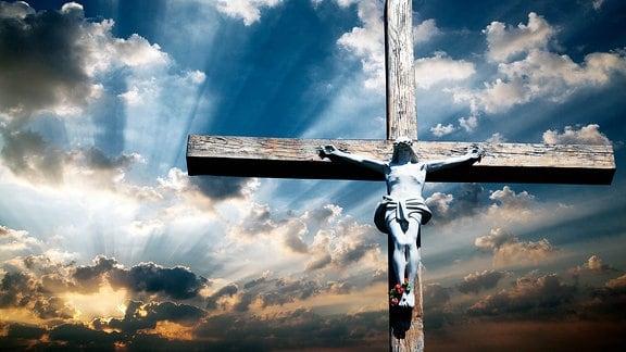Abbildung von Jesus Christus am Kreuz.