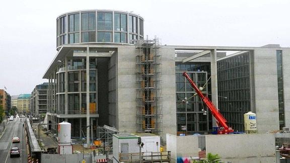 Der ehemals mit ca. 200 Millionen veranschlagte Erweiterungsbau Marie-Elisabeth-Lueders-Haus