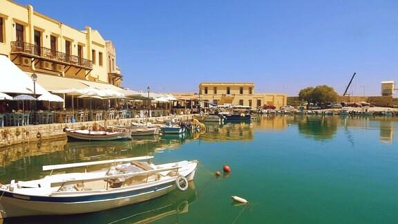 Hafen von Rethymnon auf Kreta