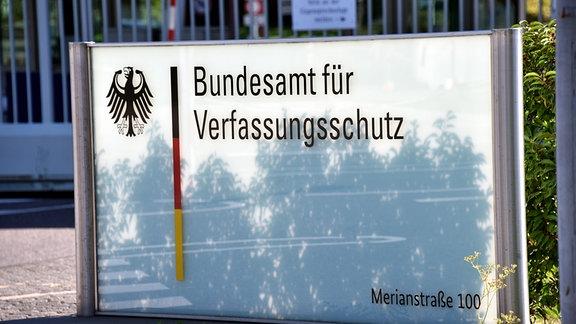 Eingang zum Bundesamt für Verfassungsschutz.