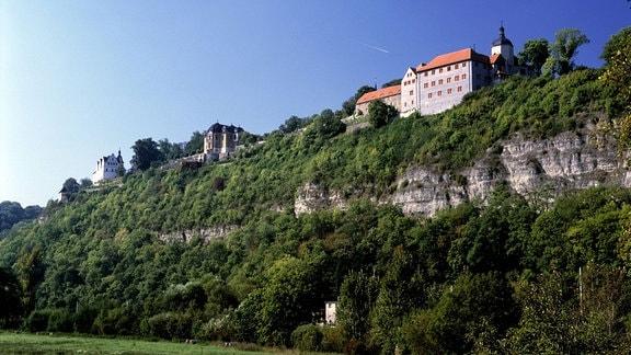 Schlösser auf dem Hügel der Stadt Dornburg