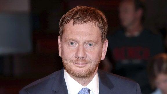 Michael Kretschmer bei der Aufzeichnung der ZDF-Talkshow Markus Lanz im Fernsehmacher Studio im Phoenixhof.