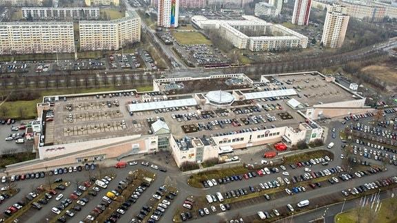 Blick auf das Einkaufszentrum Thueringenpark am 03.02.2017 in Erfurt.