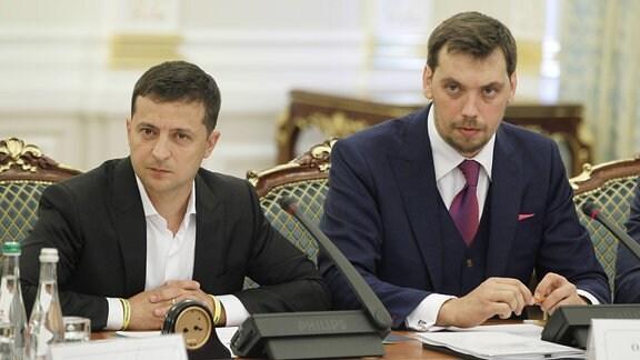 Präsident Selenskyj und Regierungschef Olexii Gontscharuk