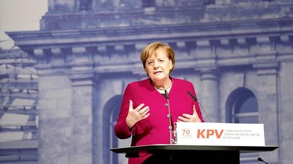 Bundeskanzlerin Merkel bei Bundesvertreterversammlung Kommunalpolitische Vereinigung KPV