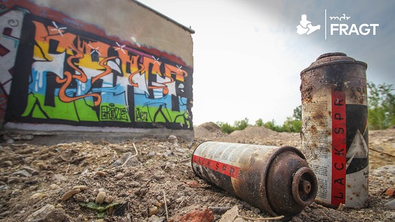 Von Graffitisprühern genutztes Brachgelände.