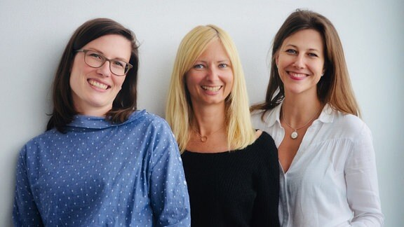 Kristin Hansen, Claudia Reiser und Stefanie Undisz von mdrFRAGT