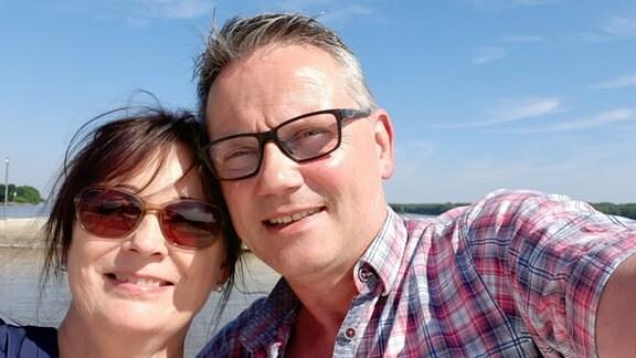 MDRfragt-Teilnehmer Volker Zöge mit seiner Frau