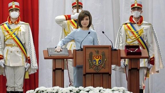 Moldaus Präsidentin Maia Sandu