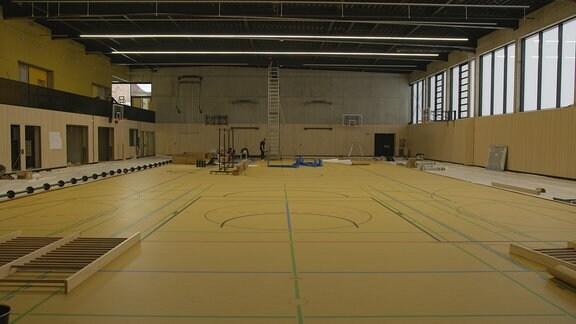 Innenansicht der neuen Sporthalle