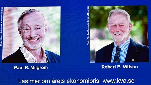 Nobelpreis in Wirtschaft an Paul R. Milgrom und Robert B. Wilson